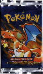 Pokemon Base Set Shadowless Booster Pack - Charizard Artwork