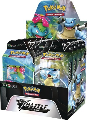 Pokemon V Battle Deck Display Box - Venusuar & Blastoise