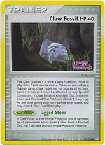 Claw Fossil - 91/110 - Common - Reverse Holo
