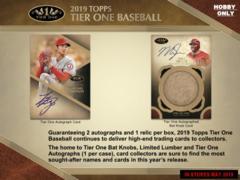 2019 Topps Tier One MLB Baseball Hobby Box