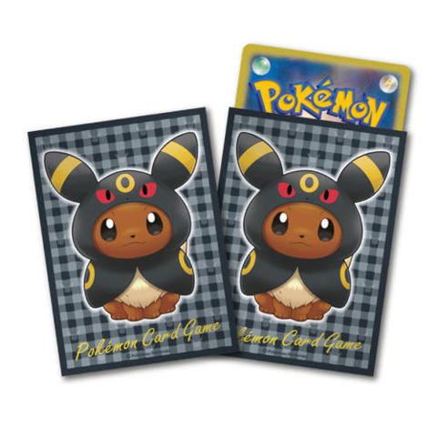 Japanese Pokemon Center Exclusive Eevee Wearing Poncho - Umbreon Sleeves - 64ct