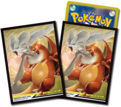 Japanese Pokemon SM10 Charizard & Reshiram Sleeves - 64ct