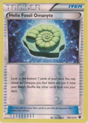 Helix Fossil Omanyte - 102/124 - Uncommon - Reverse Holo