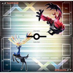 Japanese Pokemon XY Xerneas Yveltal Official Playmat