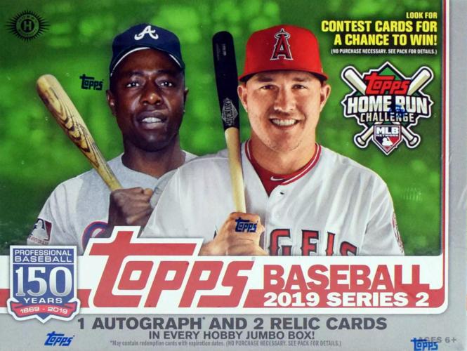 2019 Topps Mlb Baseball Series 2 Jumbo Box Sports Cards Trading