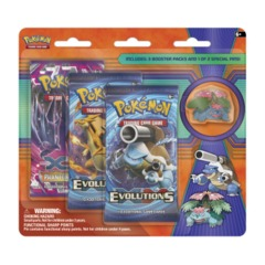 Pokemon XY12 Evolutions 3-Booster Blister Pack - Mega Venusaur Pin