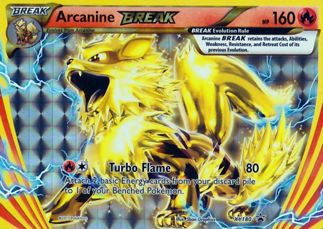 Arcanine BREAK XY180 Holo Promo - Arcanine Break Evolution Box Exclusive