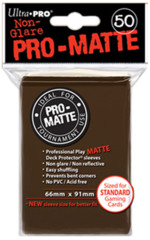 Ultra Pro Standard Size Pro Matte Sleeves - Brown - 50ct