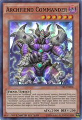 Archfiend Commander - CT11-EN006 - Super Rare - Limited Edition