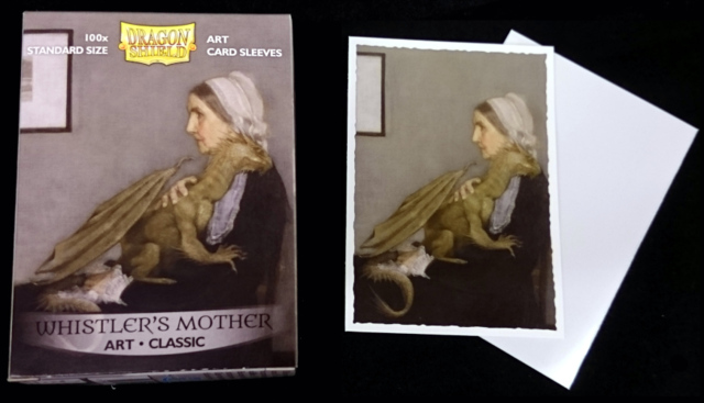Dragon Shield Classic Art Standard Sleeves Whistlers Mother 100ct