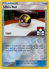 Ultra Ball 68a/73 STAFF Stamp League Cup Reverse Holo Promo - 2019 League Cup