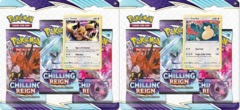 Pokemon SWSH6 Chilling Reign 3-Pack Blisters - BOTH Blisters