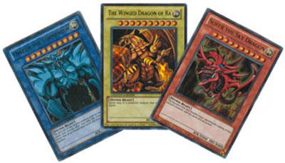 Ultra Rare Holo Promo god Card Set includes Obelisk, Slifer & Winged Dragon of Ra LC01