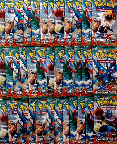 Pokemon XY3 Furious Fists 36ct Booster Pack Lot