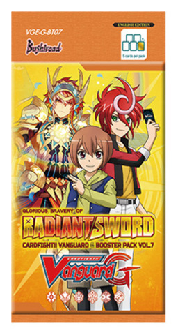 Cardfight!! Vanguard VGE-G-BT07 Glorious Bravery of Radiant Sword Booster Pack