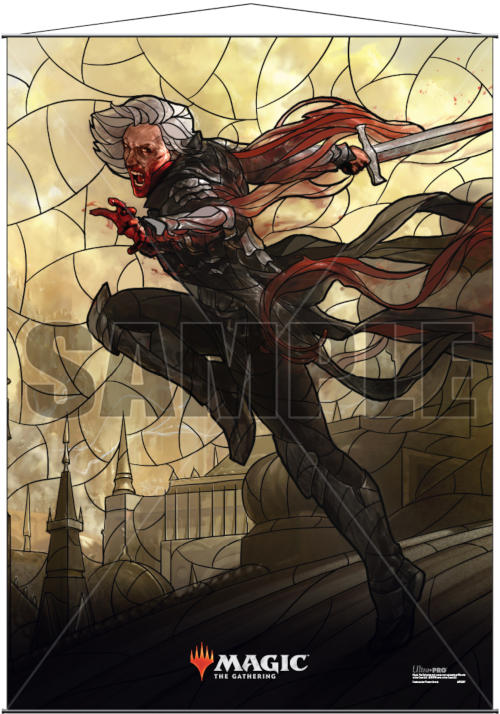 Ultra Pro Magic the Gathering Planeswalkers Stained Glass Wall Scroll - Sorin