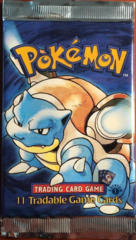 Pokemon Base Set 1st Edition Booster Pack - Blastoise Artwork