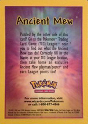 Ancient Mew Holo Promo - SEALED Pack