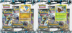 Pokemon Sun & Moon SM8 Lost Thunder 3-Booster Blister Packs: Set of 2