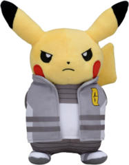 Japanese Pokemon Center Pikachu Boss Cyrus Costume Plush