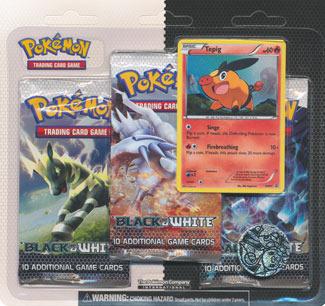 Pokemon Black & White 3-Booster Blister Pack - Tepig Promo