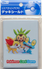 Japanese Pokemon XY Sleeves 32ct Froakie Fennekin Chespin