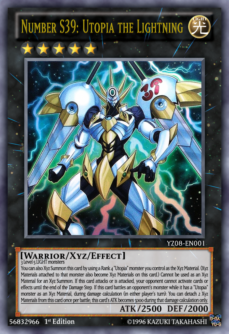 Number S39: Utopia the Lightning Ultra Rare YZ08-EN001