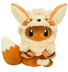 Japanese Pokemon Center Eevee in Arcanine Costume (Closed Mouth) - Okinawa Exclusive!