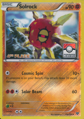 Solrock 64/146 Crosshatch Holo 4th Place Stamp Promo - 2015 Pokemon League