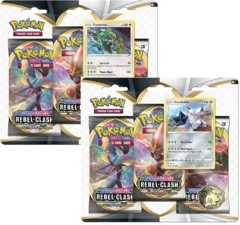Pokemon Sword & Shield SWSH2 Rebel Clash 3-Pack Blisters - Set of 2
