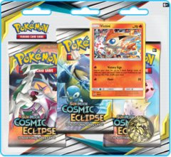 Pokemon Sun & Moon SM12 Cosmic Eclipse 3-Booster Blister Pack - Victini