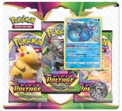 Pokemon SWSH4 Vivid Voltage 3-Pack Blister - Vaporeon