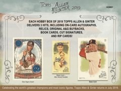 2019 Topps Allen & Ginter MLB Baseball Hobby Box
