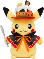 Japanese Pokemon Center We Are Team Treat Pikachu Plush