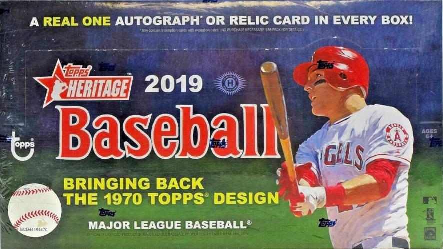 2019 Topps Heritage Mlb Baseball Hobby Box Sports Cards Trading