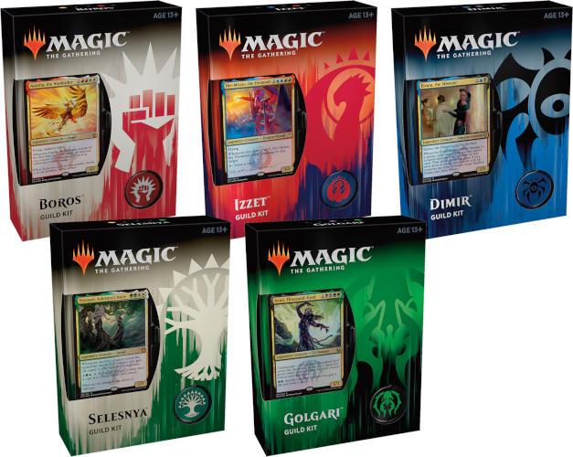 MTG Guilds of Ravnica Set of 5 Guild Kits