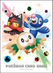 Japanese Pokemon Sun & Moon Rowlet Litten Popplio Sleeves - 64ct