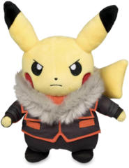 Japanese Pokemon Center Pikachu Boss Lysandre Costume Plush