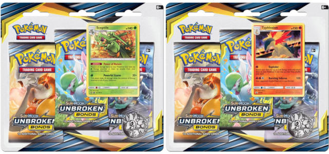 Pokemon SM10 Unbroken Bonds 3-Booster Blister Packs: Set of 2