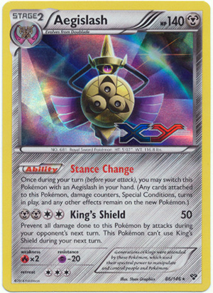 Aegislash 86/146 Sheen Holo Promo - XY Prerelease