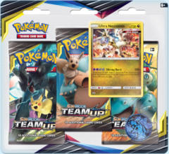 Pokemon Sun & Moon SM9 Team Up 3-Booster Blister Pack - Ultra Necrozma Promo