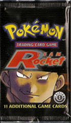Pokemon Team Rocket 1st Edition Booster Pack - Giovanni Artwork