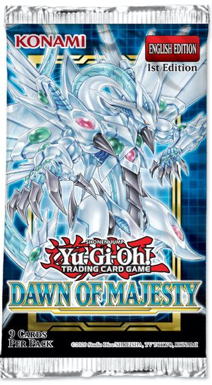 Yu-Gi-Oh Dawn of Majesty 1st Edition Booster Pack
