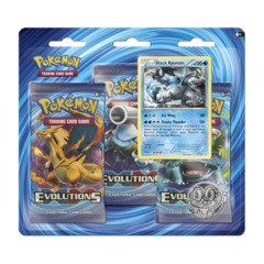 Pokemon XY12 Evolutions 3-Booster Blister Pack - Black Kyurem Promo
