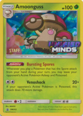 Amoonguss SM202 Wave Holo STAFF Promo - SM11 Unified Minds Prerelease