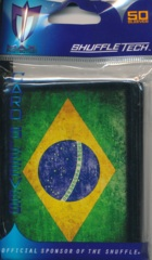 Max Protection Standard Size Sleeves Brazil Flag - 50ct
