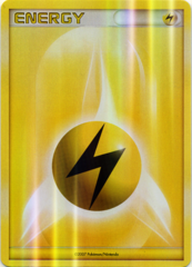 Lightning Energy Unnumbered Sheen Holo Promo - 2007 Pokemon League
