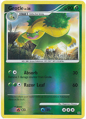 Grotle 49127 Uncommon Reverse Holo Pokemon Card Singles