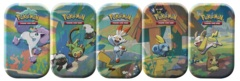 Pokemon Galar PALS Mini Tins: Set of 5 -- GREEN TINS