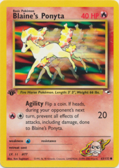 Blaine's Ponyta - 63/132 Common - 1st Edition